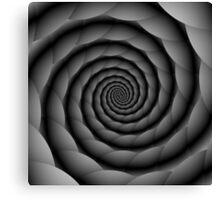 Monochrome Spiral Canvas Print