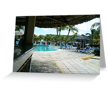 Pool bar Greeting Card