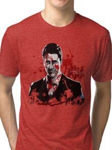 Mr.Scratch - Don't Mind Him. Tri-blend T-Shirt