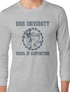 Eros University School of Acupuncture - Fictional College Shirt - Cupid Acupuncture School Long Sleeve T-Shirt