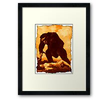 Monkey Love Framed Print