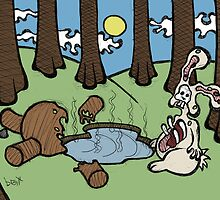 Teddy Bear And Bunny - Acid Trip by Brett Gilbert
