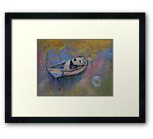 Panda Moon Framed Print