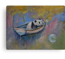 Panda Moon Canvas Print
