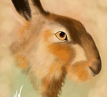 British Brown Hare by Wispwool