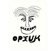 Opium happy smile Art Print