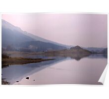 Loch Lubhair in the Mist Poster