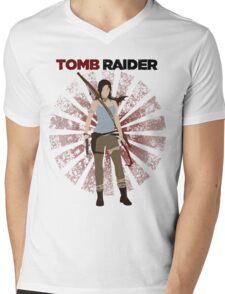 Lara Croft -  Tomb Raider (with burst) Mens V-Neck T-Shirt
