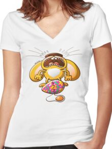 Desperate Easter Bunny Women's Fitted V-Neck T-Shirt