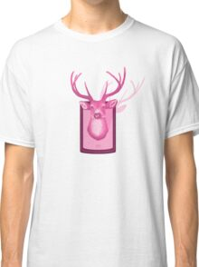 The Pink Deer Head Graphic Classic T-Shirt