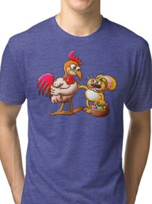 Easter Bunny in Trouble Tri-blend T-Shirt