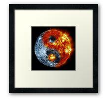 Sun Moon Yin Yang Framed Print