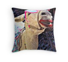 """ It's Tough To Be So Beautiful "" Throw Pillow"