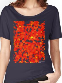 red squares Women's Relaxed Fit T-Shirt
