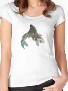 Koi Shark Fin Women's Fitted Scoop T-Shirt
