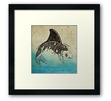 Koi Shark Fin Framed Print
