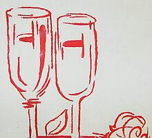 Red wine by Rachel Clare