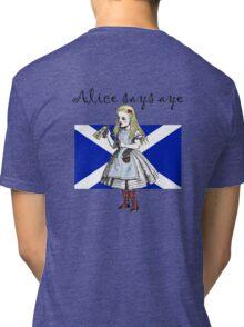 Alice Says Aye Scottish Independence T-Shirt Tri-blend T-Shirt