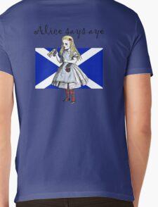 Alice Says Aye Scottish Independence T-Shirt Mens V-Neck T-Shirt