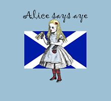 Alice Says Aye Scottish Independence T-Shirt Womens Fitted T-Shirt