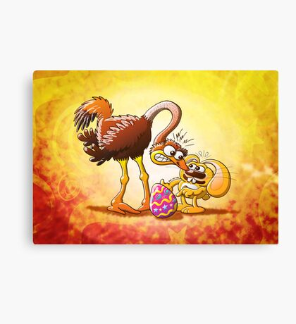 Ambitious Easter Bunny Canvas Print