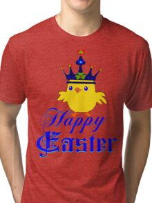 ㋡♥♫Happy Easter Blue Eyed Irish King Chicken Clothing & Stickers♪♥㋡ Tri-blend T-Shirt