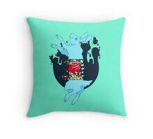 Rot Rabbit Throw Pillow