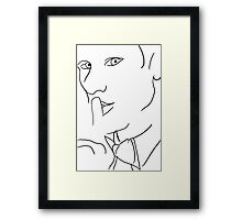Doctor Who- Lines Framed Print