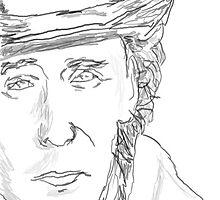 Tom Hiddleston-Black and White by EloiseRose