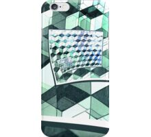 Curling Colorful Cubes iPhone Case/Skin