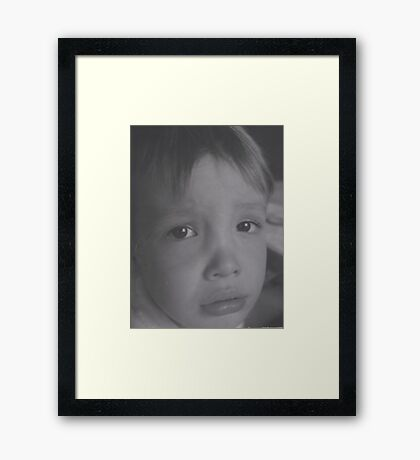 An Unhappy Moment Framed Print