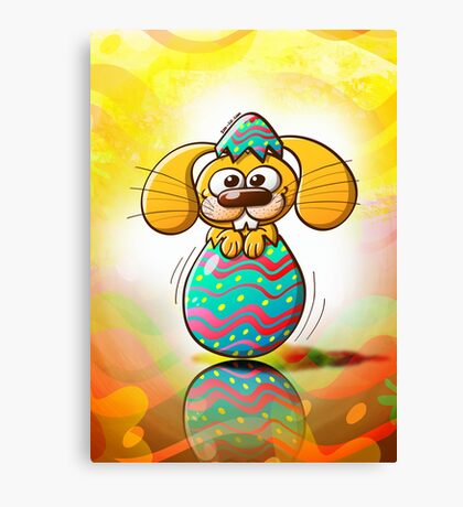 The Birth of an Easter Bunny Canvas Print