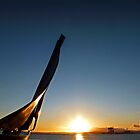 Fife Yacht Monument January Sunset by George Crawford