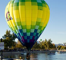 Hot Air Balloon Landing In Water by Tina Hailey