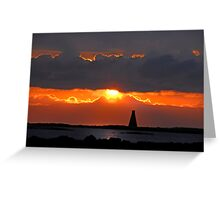 Horse Island Lighthouse Sunset Greeting Card