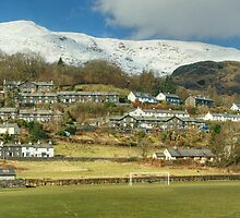 Coniston Village And Fells by Jamie  Green