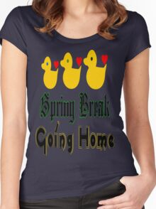 ㋡♥♫Spring Break-Going Home Ducks Clothing & Stickers♪♥㋡ Women's Fitted Scoop T-Shirt