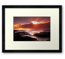 Ne'erday Potencross Frothy Sunset 1 Framed Print