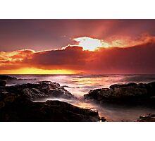 Ne'erday Potencross Frothy Sunset 1 Photographic Print