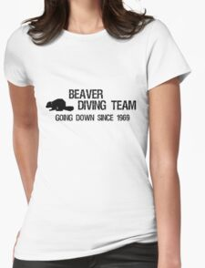 Beaver Diving Team Womens Fitted T-Shirt