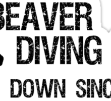 Beaver Diving Team Sticker