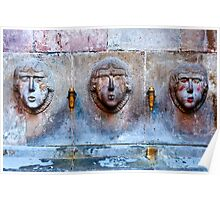 Three faces Poster