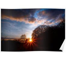 Ibstone winter sunset Poster