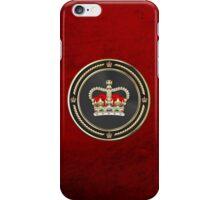 St Edward's Crown - British Royal Crown over Red Velvet iPhone Case/Skin