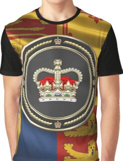 St Edward's Crown - British Royal Crown over Red Velvet Graphic T-Shirt