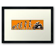 MOTORCYCLE EVOLUTION RACE BIKE Framed Print