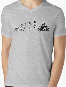 MOTORCYCLE EVOLUTION RACE BIKE Mens V-Neck T-Shirt