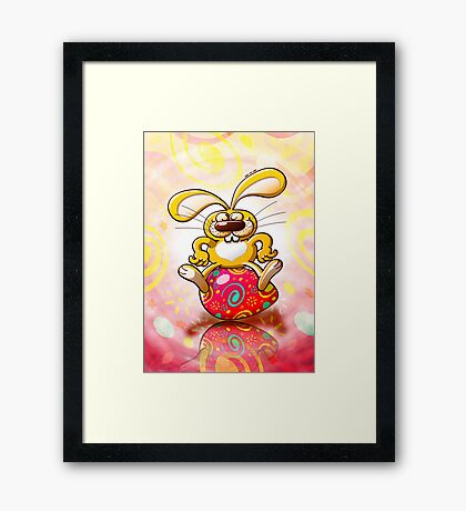 Proud Easter Bunny Framed Print
