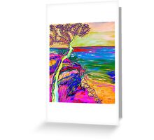 Looking out to sea. Greeting Card