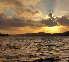 Coniston Water Sunset by J Biggadike